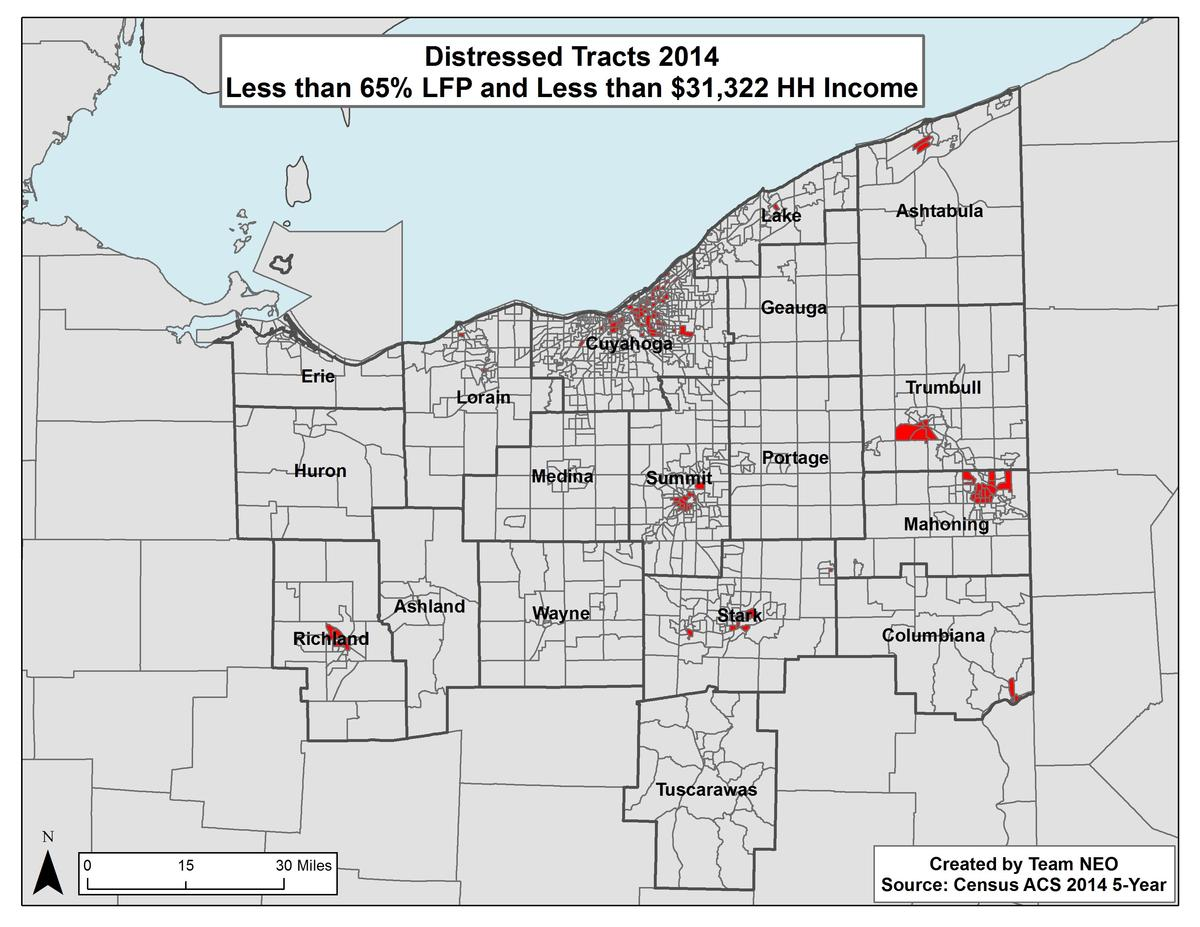 Northeast Ohio Areas of Economic Distress